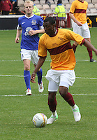 Omar Daley in the Motherwell v Everton friendly match at Fir Park, Motherwell on 21.7.12 for Steven Hammell's Testimonial.