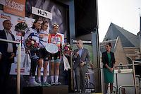 2015 Fl&egrave;che Wallonne F&eacute;minine podium:<br /> 1/ Anna van der Breggen (NLD/Rabobank-Liv)<br /> 2/ Annemiek van Vleuten (NLD/Bigla)<br /> 3/ Megan Guarnier (USA/Boels-Dolmans)