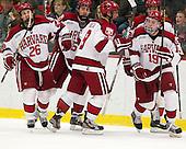 Luke Greiner (Harvard - 26), Dan Ford (Harvard - 5), Danny Biega (Harvard - 9), Brian Hart (Harvard - 39), Jimmy Vesey (Harvard - 19) - The Harvard University Crimson defeated the visiting Rensselaer Polytechnic Institute Engineers 4-0 (EN) on Saturday, November 10, 2012, at Bright Hockey Center in Boston, Massachusetts.