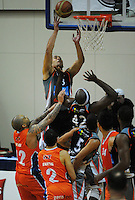 Paora Winitana in action during the national basketball league semifinal between Bay Hawks and Southland Sharks at TSB Bank Arena, Wellington, New Zealand on Friday, 4 July 2014. Photo: Dave Lintott / lintottphoto.co.nz