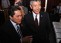 WASHINGTON, DC-JULY 10,2012:  Erick Thohir and Will Chang during a D.C. United ownership press conference at the POV Lounge in the W Hotel, Washington, DC.