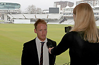 Tom Westley of Essex CCC is interviewed prior to the Lord's Taverners Presentation at Lord's Cricket Ground on 12th March 2018