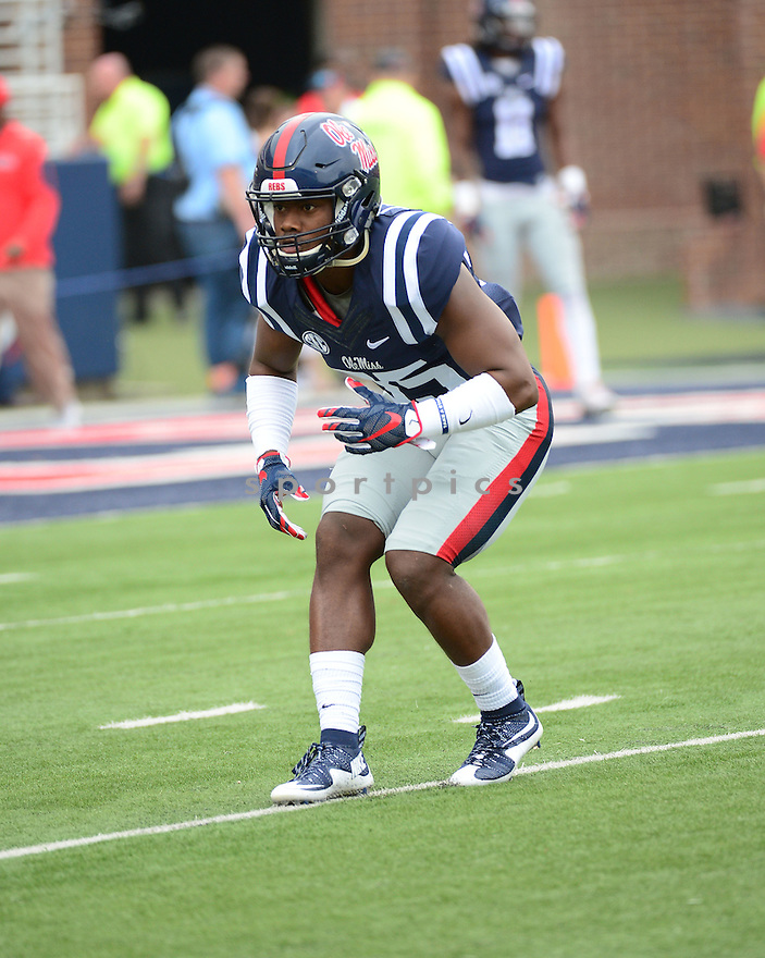 Ole Miss Rebels Josh Johnson (35) during a game against the New Mexico State Aggies on October 10, 2015 at Vaught-Hemingway Stadium  in Oxford, MS. Ole Miss beat New Mexico State 52-3.