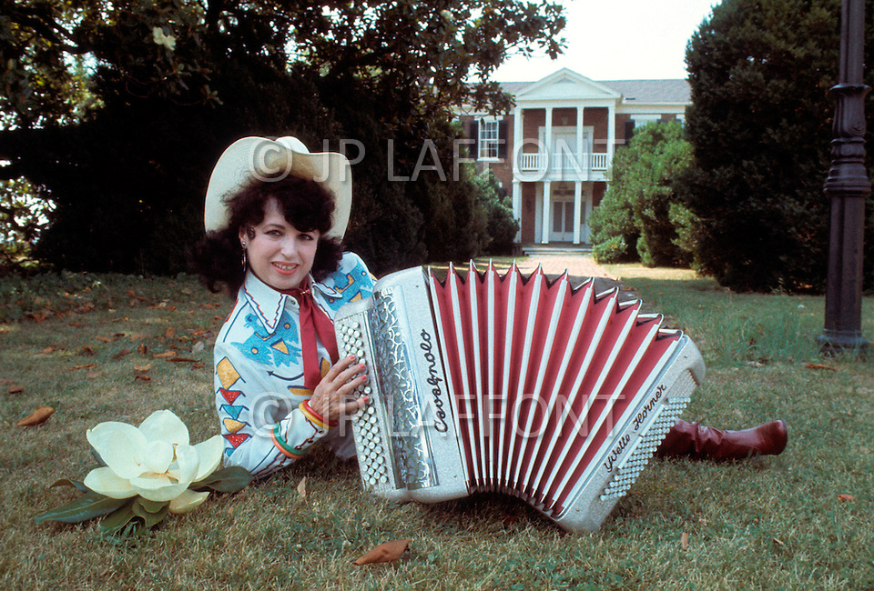 Nashville, Tennessee - June 10, 1977. This photograph was taken of Yvette Horner in Nashville, Tennessee, where she was scheduled to play at the Ole Opry. Yvette Horner (born September 22nd, 1922) is a renown French accordionist, whose career has spanned over 70 years, has given thousands of concerts around the world and sold over 30 million records.