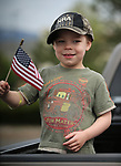 Joseph Mattis, 4, waits for the start of the 4th annual Veterans Suicide Awareness March at Western Nevada College, in Carson City, Nev., on Saturday, May 5, 2018. <br /> Photo by Cathleen Allison/Nevada Momentum