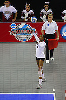 15 December 2007: Stanford Cardinal Franci Girard during Stanford's 25-30, 26-30, 30-23, 30-19, 8-15 loss against the Penn State Nittany Lions in the 2007 NCAA Division I Women's Volleyball Final Four championship match at ARCO Arena in Sacramento, CA.