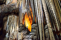 Limestone cavern showing formations in Orient Cave of Jenolan Caves, NSW Australia