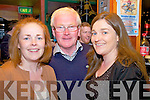 Enjoying the music & dance at the Portmagee Set Dancing Weekend in the Bridge Bar were l-r; Myra Hulme, Kieran Dennehy & Elaine Wallace.