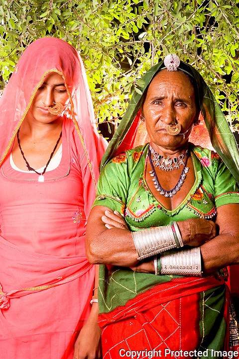 Bishnoi women in traditional costumes
