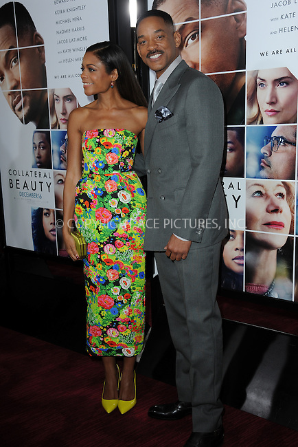 www.acepixs.com<br /> December 12, 2016  New York City<br /> <br /> Naomie Harris and Will Smith attending the 'Collateral Beauty' World Premiere at Frederick P. Rose Hall, Jazz at Lincoln Center on December 12, 2016 in New York City.<br /> <br /> <br /> Credit: Kristin Callahan/ACE Pictures<br /> <br /> Tel: 646 769 0430<br /> Email: info@acepixs.com