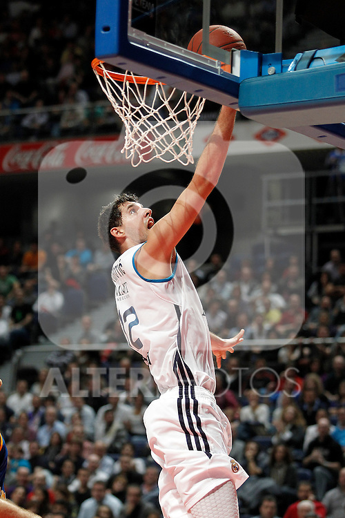 Real Madrid's Nikola Mirotic during Euroleague 2012/2013 match.November 23,2012. (ALTERPHOTOS/Acero)