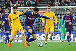 League Santander 2017/2018. Game: 28.<br /> FC Barcelona vs At. Madrid: 1-0.<br /> Saul vs Andre Gomes.