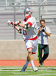 Palos Verdes, CA 03/26/16 - Jarrett Jones (Palos Verdes #6) in action during the CIF Boys Lacrosse game between San Clemente Tritons and the Palos Verdes Seakings at Palos Verdes High School.  Palos Verdes defeated San Clemente 11-6