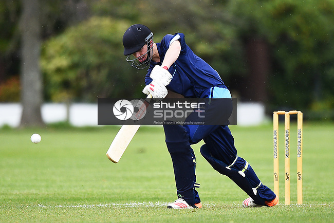 NELSON, NEW ZEALAND - OCTOBER 5: Premiership Cricket - Wanderers v Nelson College. Nelson, Saturday 5 October 2019 in Nelson, New Zealand. (Photo by Chris Symes/Shuttersport Limited)