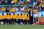 13 JUN 2010:  Ghana head coach Milovan Rajevac (SRB) watches movement on the field.  The Serbia National Team played the Ghana National Team at Loftus Versfeld Stadium in Tshwane/Pretoria, South Africa in a 2010 FIFA World Cup Group D match.