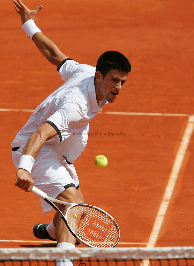 Photo: Iconsport/Richard Lane Photography..French Open, Roland Garros 2007. 31/05/2007..Novak Djokovic.
