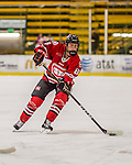 25 November 2016: Saint Cloud State Huskie Forward Brooke Kudirka, a Freshman from Omaha, NB, in action against the University of Vermont Catamounts at Gutterson Fieldhouse in Burlington, Vermont. The Lady Cats defeated the Huskies 5-1 to take the first game of the 2016 Windjammer Classic Tournament. Mandatory Credit: Ed Wolfstein Photo *** RAW (NEF) Image File Available ***