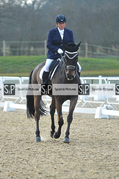 Class 11. British Dressage. Brook Farm Training Centre. Essex. 12/03/2016. MANDATORY Credit Ellie Ingram/Sportinpictures - NO UNAUTHORISED USE - 07837 394578