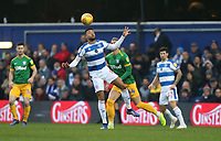 Preston North End's Brad Potts and Queens Park Rangers' Jordan Cousins<br /> <br /> Photographer Rob Newell/CameraSport<br /> <br /> The EFL Sky Bet Championship - Queens Park Rangers v Preston North End - Saturday 19 January 2019 - Loftus Road - London<br /> <br /> World Copyright © 2019 CameraSport. All rights reserved. 43 Linden Ave. Countesthorpe. Leicester. England. LE8 5PG - Tel: +44 (0) 116 277 4147 - admin@camerasport.com - www.camerasport.com