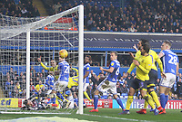 Blackburn Rovers Charlie Mulgrew scores his sides first goal   from a corner<br /> <br /> Photographer Mick Walker/CameraSport<br /> <br /> The EFL Sky Bet Championship - Birmingham City v Blackburn Rovers - Saturday 23rd February 2019 - St Andrew's - Birmingham<br /> <br /> World Copyright © 2019 CameraSport. All rights reserved. 43 Linden Ave. Countesthorpe. Leicester. England. LE8 5PG - Tel: +44 (0) 116 277 4147 - admin@camerasport.com - www.camerasport.com