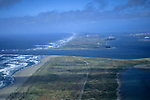 Aerial over entrance to Humboldt Bay, Eureka, Humboldt County, CALIFORNIA
