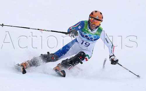 26 02 2010 Copyright Actionplus/GEPA Pictures . 2010 Vancouver Winter Olympic Games. Whistler Canada 26 Feb 10  Ski Alpine Slalom for women Picture shows Chiara Costazza ITA .  Photo : Imago/Actionplus. Editorial Use UK.