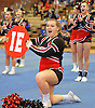 Carissa Casey at the Newfield varsity cheerleaders perform during a competition held at Hauppauge High School on Saturday, Jan. 21, 2017.