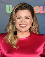 "13 April 2019 - Beverly Hills, California - Kelly Clarkson. ""UglyDolls"" Los Angeles Photo Call held at The Four Seasons Hotel. Photo Credit: Billy Bennight/AdMedia"