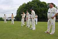 Hornchurch players warm up during Shenfield CC (batting) vs Hornchurch CC (Bowling) ,Shepherd Neame Essex League Cricket at Chelmsford Road on 12th May 2018