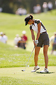March 27, 2004; Rancho Mirage, CA, USA;  14 year old amateur Michelle Wie tees off on the 18th hole during the 2nd round of the LPGA Kraft Nabisco golf tournament held at Mission Hills Country Club.  Wie finished the day with a 3 under par 69 and tied for 4th with a 6 under par 210.<br />