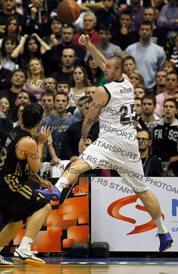 Kosarka, Euroleague, sezona 2011/2012.Partizan Vs. Real Madrid.Milan Macvan.Belgrade, 10.11.2011..foto: Srdjan Stevanovic/Starsportphoto ©