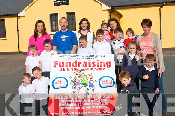 Glounaguillagh National School are gearing up for the school's fund-raising fun run on March 23rd. <br /> Front L-R Ciaran and Oisin Birmingham, Jack Lynch and Oisin Murphy. <br /> Middle Row L-R Liam and Eoin O'Connell, Shane Kelliher, Darragh O'Grady, Colm Kelliher and Siomha Clifford,  Erin and Tracy Murphy. <br /> Back L-R Gina O'Grady, Eddie Birmingham, Pauline Lynch, Helena Kelliher and Eadaoin Clifford.