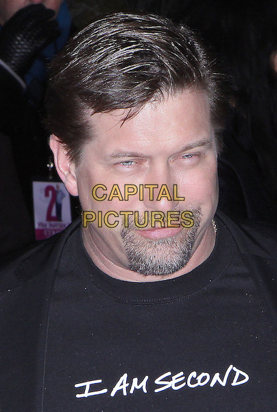"STEPHEN BALDWIN.""The Pink Panther 2"" World Premiere held at the Ziegfeld Theater, New York, NY, USA..February 3rd, 2009.headshot portrait black top i am second slogan goatee facial hair .CAP/ADM/PZ.©Paul Zimmerman/AdMedia/Capital Pictures."