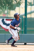 Victor Cadette of the Gulf Coast League Braves during the game against the Gulf Coast League Tigers July 3 2010 at the Disney Wide World of Sports in Orlando, Florida.  Photo By Scott Jontes/Four Seam Images