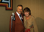 Liz Smith and Don Pardo on Septebmer 18th, 1981 in New York City.