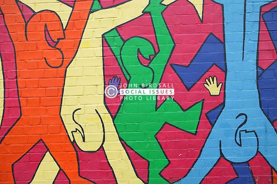 Wall art in Hyson Green; Nottingham,
