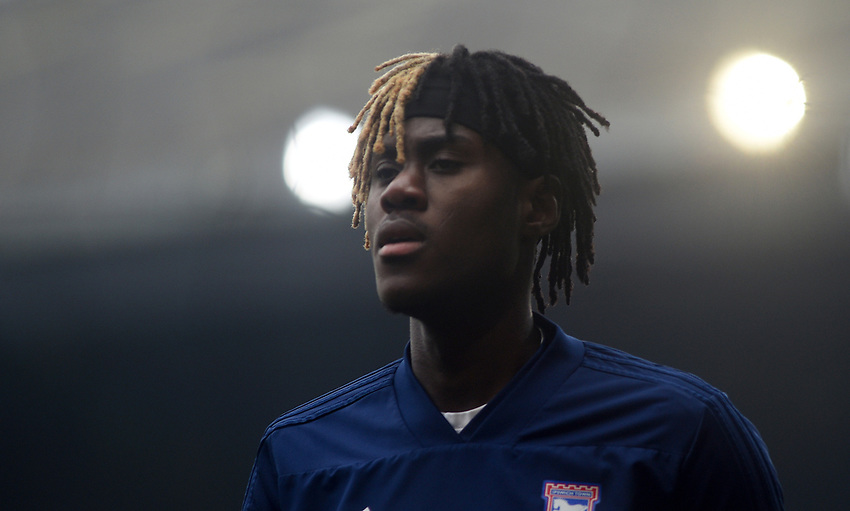 Ipswich Town's Trevoh Chalobah during the pre-match warm-up <br /> <br /> Photographer Hannah Fountain/CameraSport<br /> <br /> The EFL Sky Bet Championship - Ipswich Town v Stoke City - Saturday 16th February 2019 - Portman Road - Ipswich<br /> <br /> World Copyright © 2019 CameraSport. All rights reserved. 43 Linden Ave. Countesthorpe. Leicester. England. LE8 5PG - Tel: +44 (0) 116 277 4147 - admin@camerasport.com - www.camerasport.com