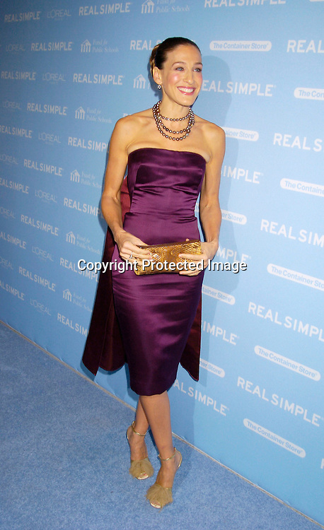 "Sarah Jessica Parker ..at The Real simple Magazine's Get Organized New York"" ..Benefit Dinner on October 13, 2004 at Jazz at Lincoln Center . This event benefits The Fund for Public Schools...Photo by Robin Platzer, Twin Images"