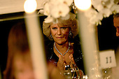Washington, D.C. - November 2, 2005 -- Camilla, Duchess of Cornwall, applauds as United States President George W. Bush offers a toast at a Social Dinner in honor of her and Charles, Prince of Wales in the State Dining Room of the White House in .Washington, D.C. on November 2, 2005. .Credit: Jay L. Clendenin - Pool via CNP.(Restriction: No New York Metro or other Newspapers within a 75 mile radius of New York City)