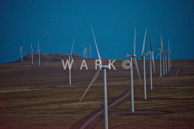 Wind Farm.  10 miles east of Walsenburg, Colorado. September 2012