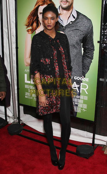 "SESSILEE LOPEZ .attend the World Premiere of ""Leap Year"" at the Directors Guild Theater, New York, NY, USA, 6th January 2010..arrivals full length black red patterned pattern jacket sequined sequin dress tights shoes .CAP/LNC/TOM.©LNC/Capital Pictures"