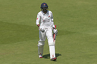 Haseeb Hameed of Lancashire leaves the field having been dismissed for 4 during Lancashire CCC vs Essex CCC, Specsavers County Championship Division 1 Cricket at Emirates Old Trafford on 11th June 2018