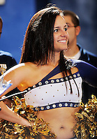 14 November 2008:  An FIU Golden Dazzler flashes a smile during the FIU 57-54 victory over Eastern Kentucky at FIU Arena in Miami, Florida.