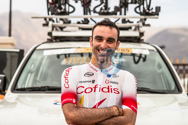 Luis Angel Mate (ESP) Cofidis before the start of Stage 5 of the 10th Tour of Oman 2019, running 152km from Samayil to Jabal Al Akhdhar (Green Mountain), Oman. 20th February 2019.<br /> Picture: ASO/Kåre Dehlie Thorstad | Cyclefile<br /> All photos usage must carry mandatory copyright credit (© Cyclefile | ASO/Kåre Dehlie Thorstad)