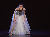London, UK. 17 August 2016. ZHAO Hanbing as Moon Fairy. Shanghai Ballet return to the London Coliseum for five performances of their new production Echoes of Eternity, choreographed by Patrick de Bana and inspired by the ancient Chinese poem Song of Everlasting Sorrow. With WU Husheng as Emperor, QI Bingxue as Lady Yang, ZHAO Hanbing as Moon Fairy. Performances from 17 to 21 August 2016.