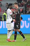 03.11.2018, BayArena, Leverkusen, GER, 1. FBL,  Bayer 04 Leverkusen vs. TSV 1899 Hoffenheim,<br />  <br /> DFL regulations prohibit any use of photographs as image sequences and/or quasi-video<br /> <br /> im Bild / picture shows: <br /> Kasim Adams (Hoffenheim #15),  und Kai Havertz (Leverkusen #29),  verabschieden sich <br /> Foto &copy; nordphoto / Meuter