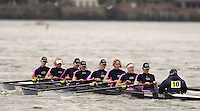 Chiswick, London. ENGLAND,11.03.2006, Osiris BC A, moves past Chiswick Pier, during the 2006 Women's Head of the River Race,  Mortlake to Putney  on Saturday 11th March    © Peter Spurrier/Intersport-images.com.. 2006 Women's Head of the River Race. Rowing Course: River Thames, Championship course, Putney to Mortlake 4.25 Miles