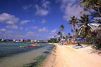 Beautiful beaches and hotels along Tumon Bay in Guam USA