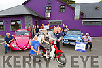 Kerry Veteran Vintage Classic Car Club launch the Ballymac Vintage Car and Honda 50 Run in aid of the Kerry Hospice Foundation in O'Riada's Bar, Ballymac on Monday evening.  <br /> Front l to r: Gareth Foley, Trish Horan and  Tony Hare (Chairman KVCCC)