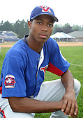 August 16, 2003:  Ja'Mar Clanton of the Vermont Expos during a game at Dwyer Stadium in Batavia, New York.  Photo by:  Mike Janes/Four Seam Images